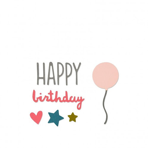 Dies Happy Birthday Thinlits Sizzix