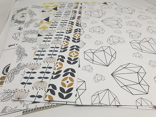 Collection papiers A4 Esprit Scandinave Margaux Création
