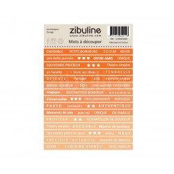 Planche de mots à découper Les Basiques Orange Zibuline
