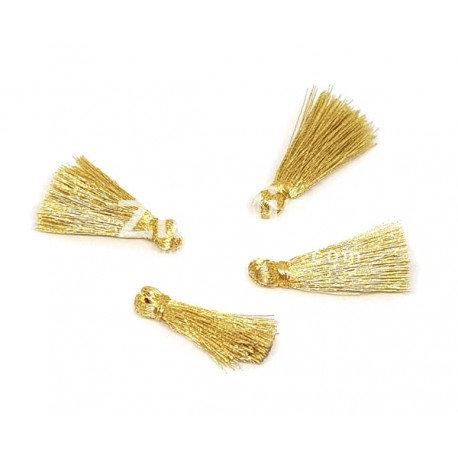 Pompons fils dorés