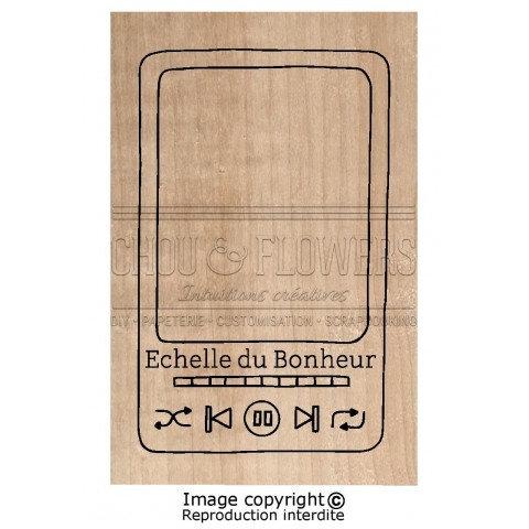 Tampon bois Echelle du bonheur Chou & Flowers Signature To do list
