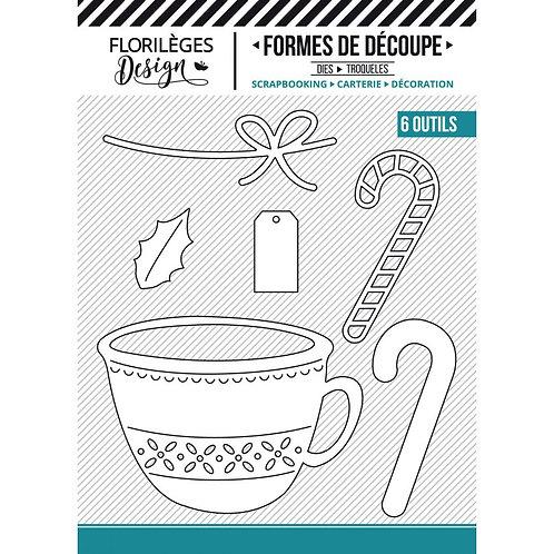 Outils de découpe Tasse de Noël Florilèges Design collection The story of
