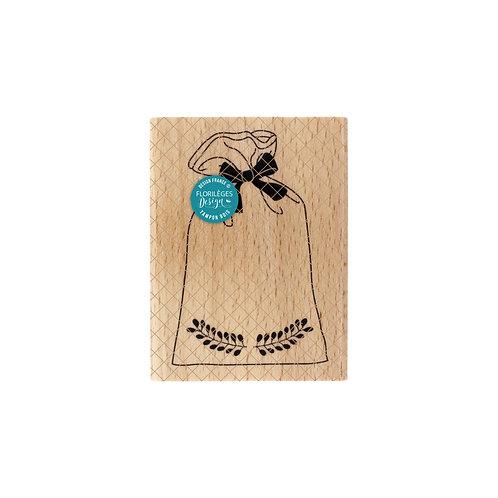 Tampon bois Pochon de Noel Florilèges Design