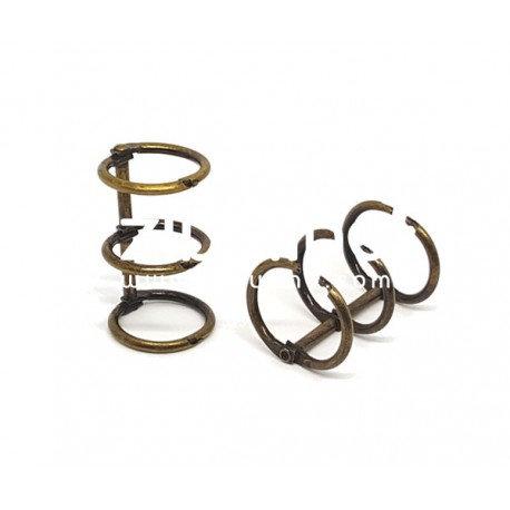 Reliure 3 anneaux 2 cm bronze