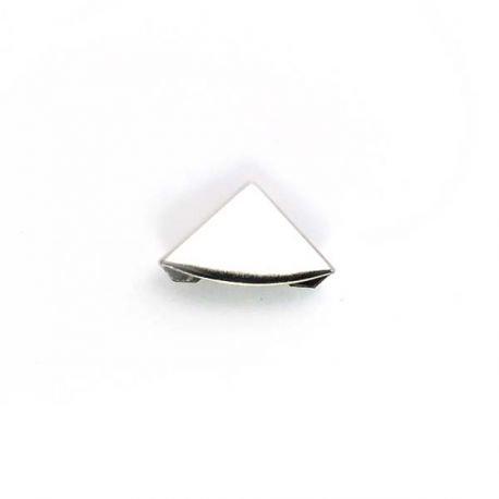 Mini coin métal arrondi argenté