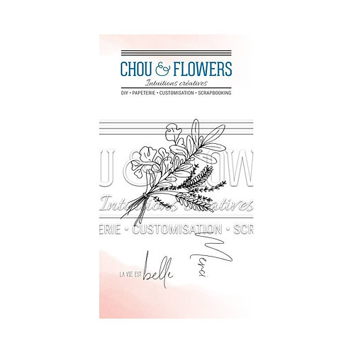 Tampons Clears Les aromates Chou & Flowers Mon petit côté Jardin
