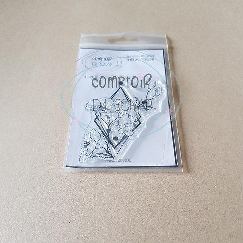 Tampon Fleurs géométriques Comptoir du Scrap
