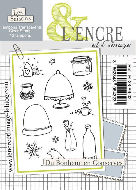 Tampons clears Du Bonheur en Conserves - L'Encre et l'Image