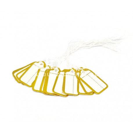 Etiquettes bijoutier rectangle doré