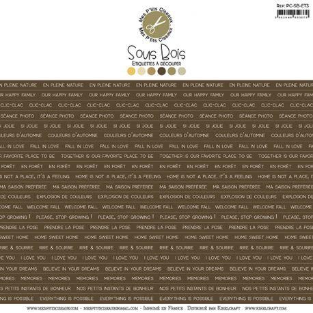 Planche d'étiquettes marron Sous-Bois -Mes Ptits Ciseaux