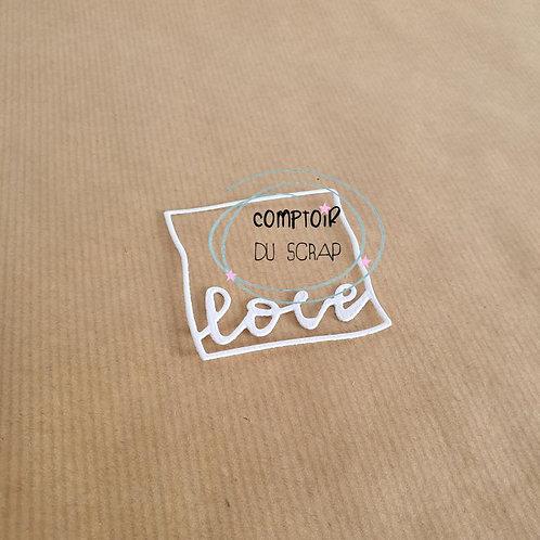 Die Cadre Love Comptoir du Scrap