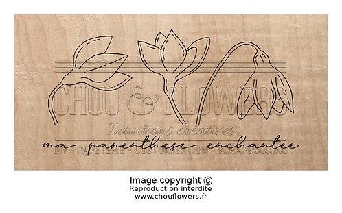 Tampon bois Parenthèse enchantée Chou & Flowers Souffle d'hiver