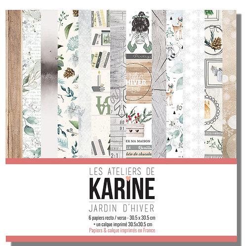 Collection papiers LES ATELIERS DE KARINE- Jardin d'Hiver