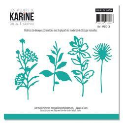 Dies Fleurs du jardin LES ATELIERS DE KARINE-Green & Graphik