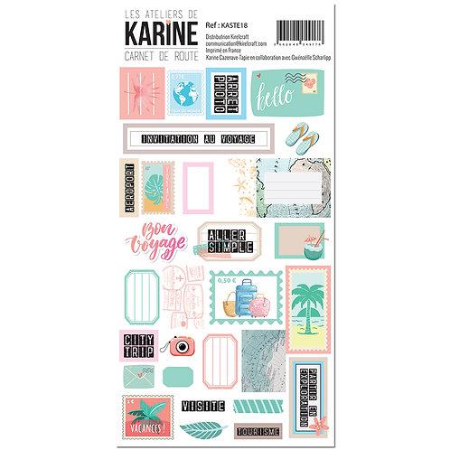 Stickers Etiquettes Carnet de Route LES ATELIERS DE KARINE