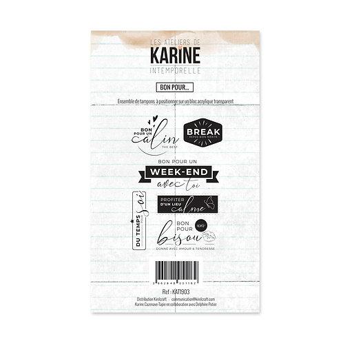 Tampons clears Bon pour...- LES ATELIERS DE KARINE-Intemporelle