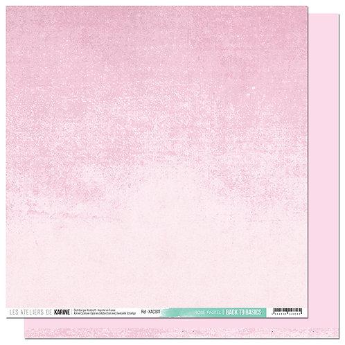 Feuille Back to Basics Rose Pastel 11 LES ATELIERS DE KARINE- Carnet de Route
