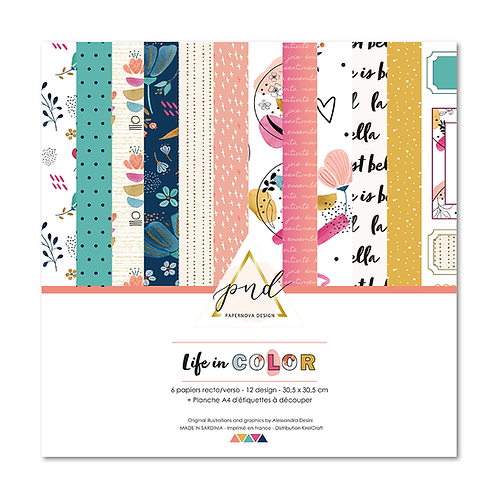 Collection papiers Life in color PAPERNOVA DESIGN