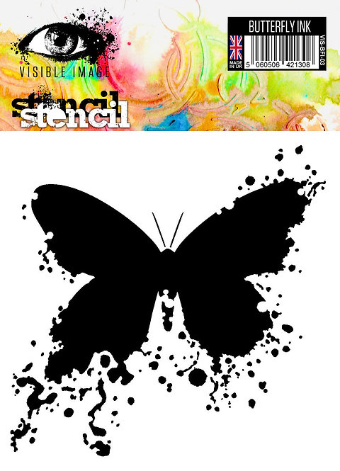 Pochoir Butterfly Ink - Visible Image
