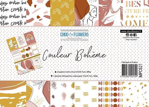 Collection papiers Chou & Flowers Couleur Bohème