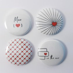 Badges Mon coeur Comptoir du Scrap