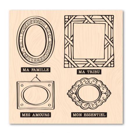 Tampon bois Cadres famille - Les Ateliers de Karine - Version originale