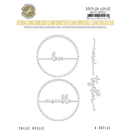 Matrices de découpe Mots en cercle - Sous-Bois Mes Ptits Ciseaux