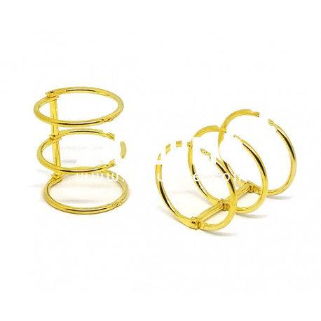 Reliure 3 anneaux 3 cm doré