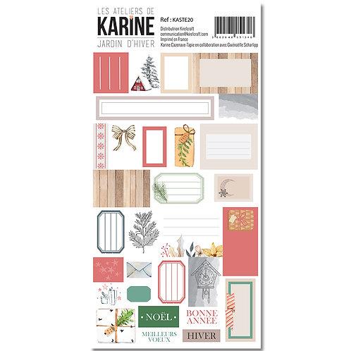 Stickers Etiquettes Jardin d'Hiver LES ATELIERS DE KARINE