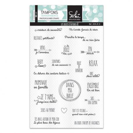 Tampons clears Les jolies citations 2 - Sokai