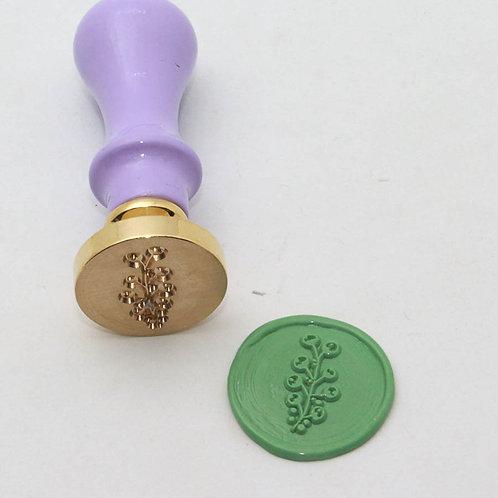 Sceau 25 mm en laiton Fleur de coton - Diy and Cie