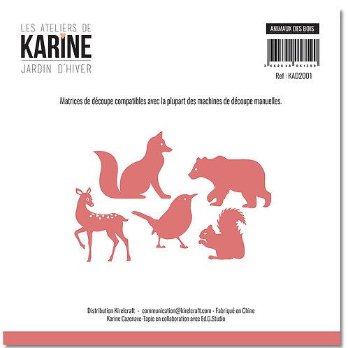 Dies Animaux des bois LES ATELIERS DE KARINE- Jardin d'Hiver