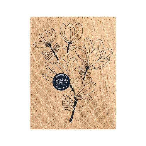 Tampon bois Branche de Magnolia Florilèges Design