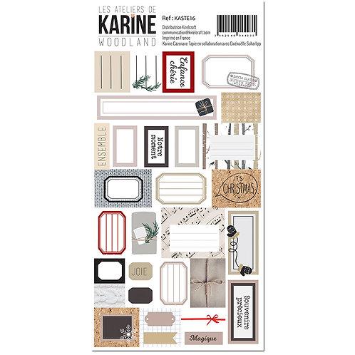 Stickers Etiquettes Woodland LES ATELIERS DE KARINE