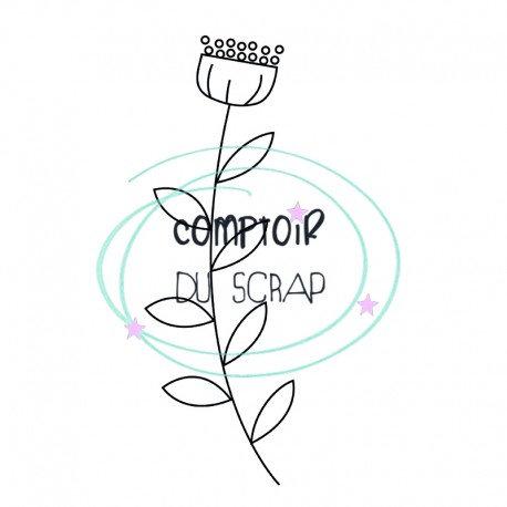Tampon Fleur Comptoir du Scrap