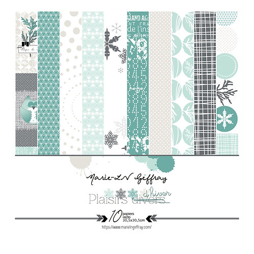 Collection papiers Marie-LN Geffray collection Plaisirs d'hiver