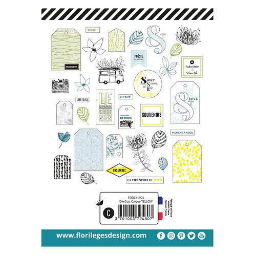 Dies cuts calques Yellow Florilèges Design