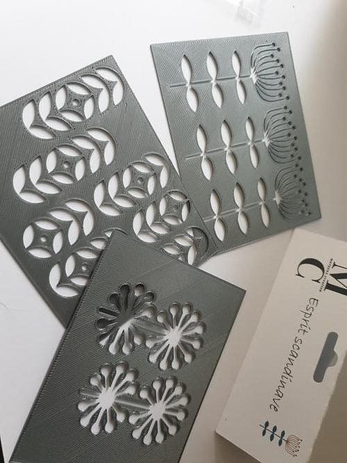 Set de 3 pochoirs collection Esprit Scandinave Margaux Création