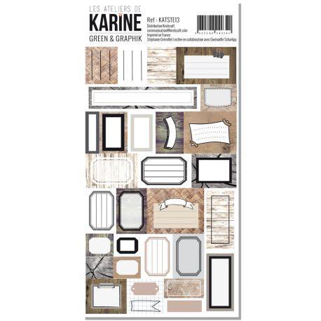 Stickers étiquettes Green & Graphik LES ATELIERS DE KARINE
