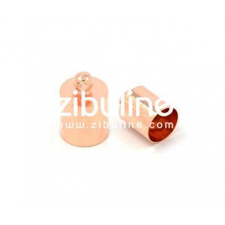 Capuchons 5mm doré rosé Zibuline