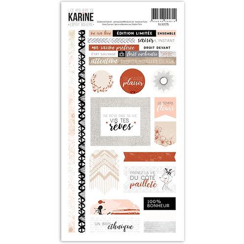 Stickers LES ATELIERS DE KARINE Esprit bohème