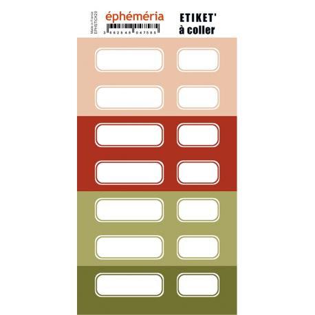 Planche étiquettes Ephéméria