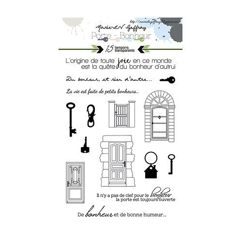 Tampons clears planche A6 par LILOU collection Porte Bonheur