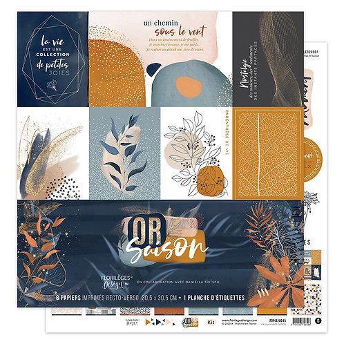 Kit papiers imprimés Or Saison Florilèges Design