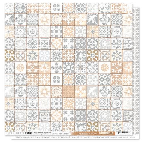 Feuille imprimée Douce mosaïque LES ATELIERS DE KARINE- Intemporelle