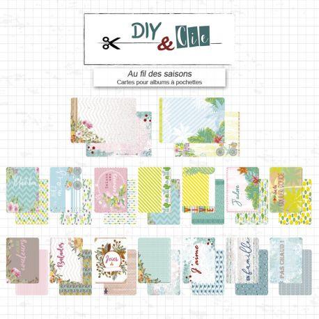 Cartes pour album à pochettes Diy and Cie