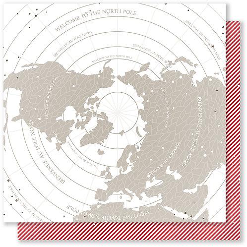 Feuille imprimée 5 collection Pôle Nord -Mes Ptits Ciseaux
