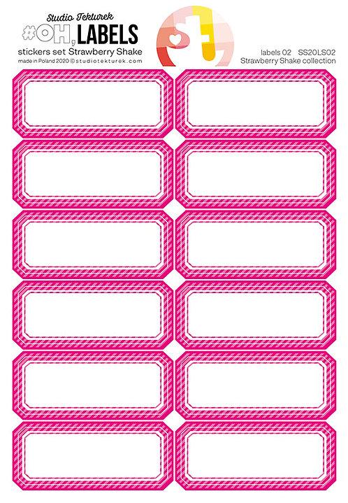 Set de stickers étiquettes rose Strawberry Shake STUDIO TEKTUREK
