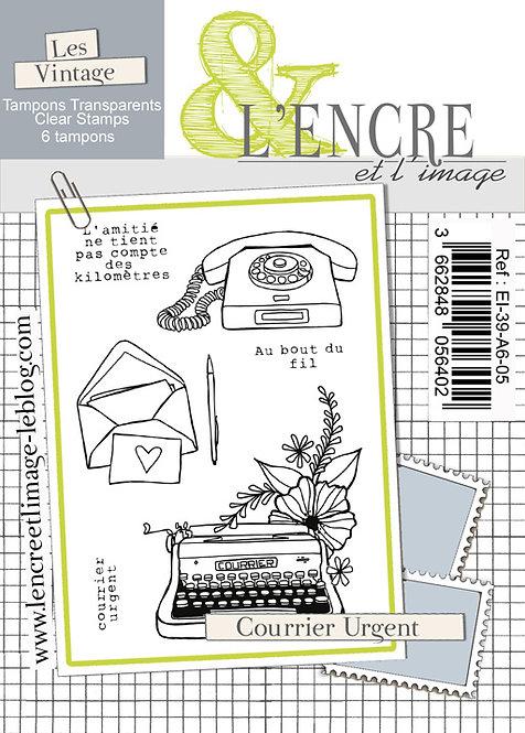 Tampons clears Courrier Urgent - L'Encre et l'Image