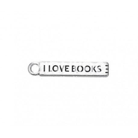 Breloque I love books